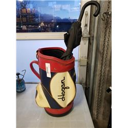Ben Hogan golf bag stand and umbrella