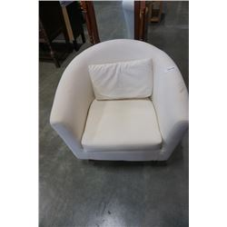 WHITE BUCKET CHAIR