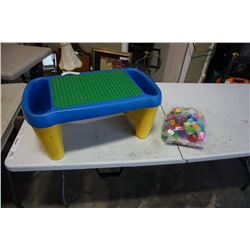 DUPLO TABLE AND DUPLO LEGO BLOCKS