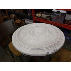 """24"""" diameter ceiling cast"""