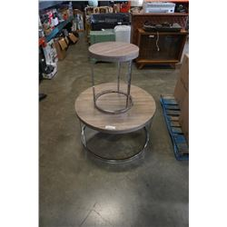 ROUND MODERN COFFEE AND ENDTABLE