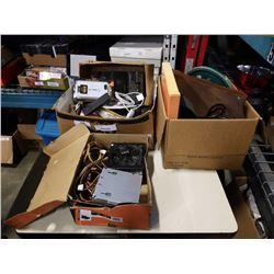 2 BOXES ELECTRONICS, COMPUTER POWER SUPPLIES, ESTATE GOODS