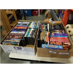2 Trays of DVD boxed sets and DVDs
