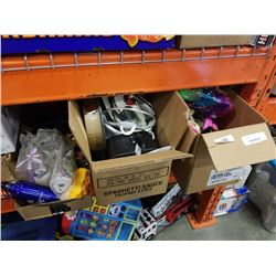 3 BOXES EASTERN ITEMS, KITCHEN ITEMS AND TOYS