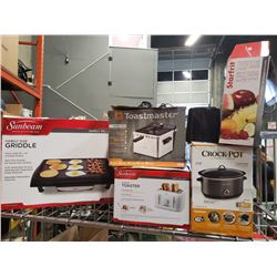 FAMILY SIZE GRIDDLE, CROCKPOT, DEEP FRYER AND TOASTERS