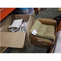 2 BOXES KITCHEN ITEMS, GLASSES, COLLANDER