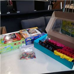 2 lite brite sets and silicone: ice cube trays