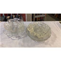 5 GLASS AND CRYSTAL SERVING DISHES