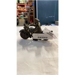 Cast iron iron art motorcycle