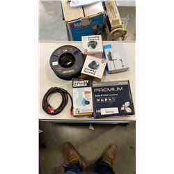 LOT OF ELECTRONICS, 32 PRINTER FILAMENT, DUMMY SECURITY CAMERAS