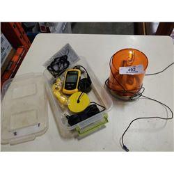 Vectorcom fish finder and rotating light