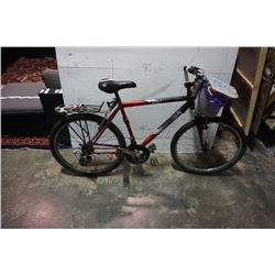 RED AND BLACK RALEIGH BIKE