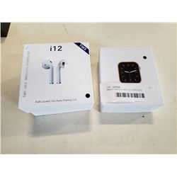 SMART WATCH AND I12 WIRELESS EARBUDS