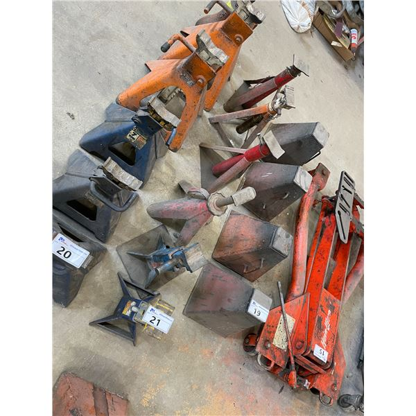 6 ASSORTED INDUSTRIAL JACK STANDS