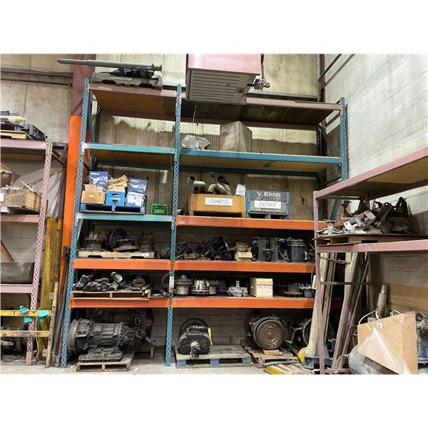 2 BAYS OF ASSORTED HEAVY DUTY VEHICLE PARTS