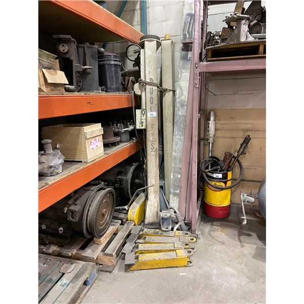 HUFFMAN 2 POST 4 POINT 5500LBS CAPACITY DUO LIFT-VS AUTOMOTIVE LIFT *DISASSEMBLED*