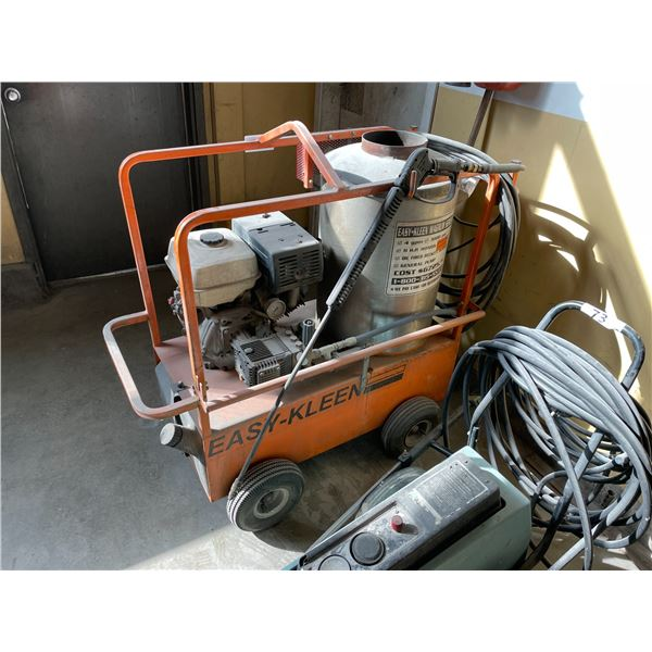 ORANGE EASY CLEAN GAS POWERED MOBILE HOT WATER PRESSURE WASHER WITH HOSE AND WAND
