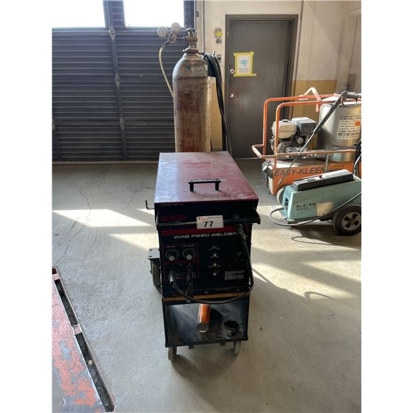 CENTURY 225 AMP WIRE FEED WELDER WITH GROUND AND WAND