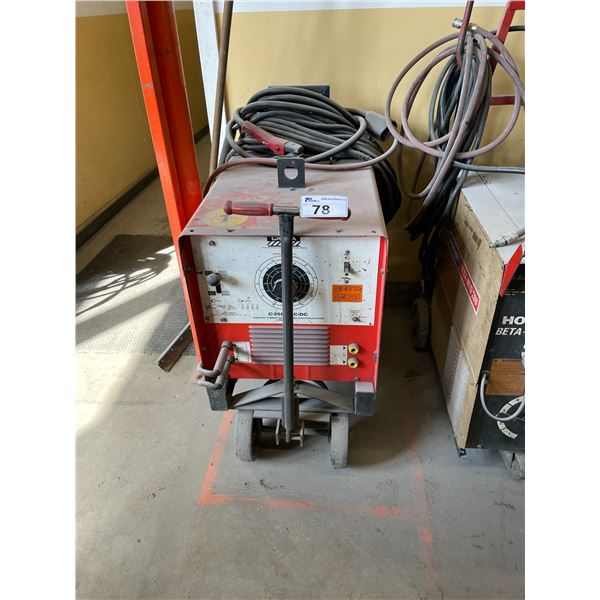 CANOX C-250E CONSTANT CURRENT AC-DC ARC WELDING POWER SOURCE WITH GROUND AND STICK WELDING GUN