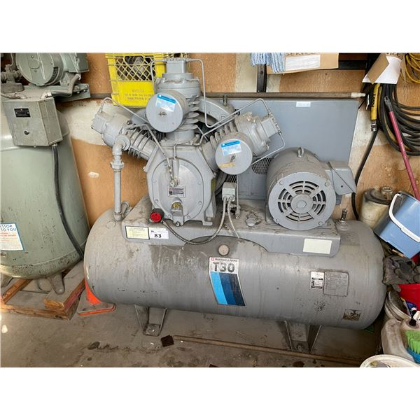 *APR 30 REMOVAL* INGERSOLL-RAND T30 15T 200PSI 120GAL HORIZONTAL INDUSTRIAL AIR COMPRESSOR