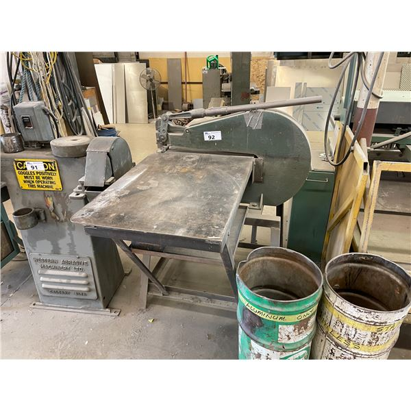 """GREEN INDUSTRIAL NUMBER 9 METAL PUNCH D24"""" WITH TABLING"""