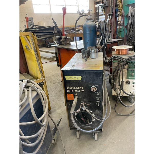 HOBART BETA-MIG 2 WIRE FEED MIG WELDER WITH GROUND AND TRIGGER