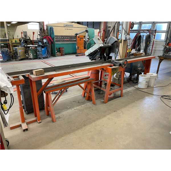 TS-405A METAL CUTTING CHOP SAW WITH SAW HORSES AND STAND