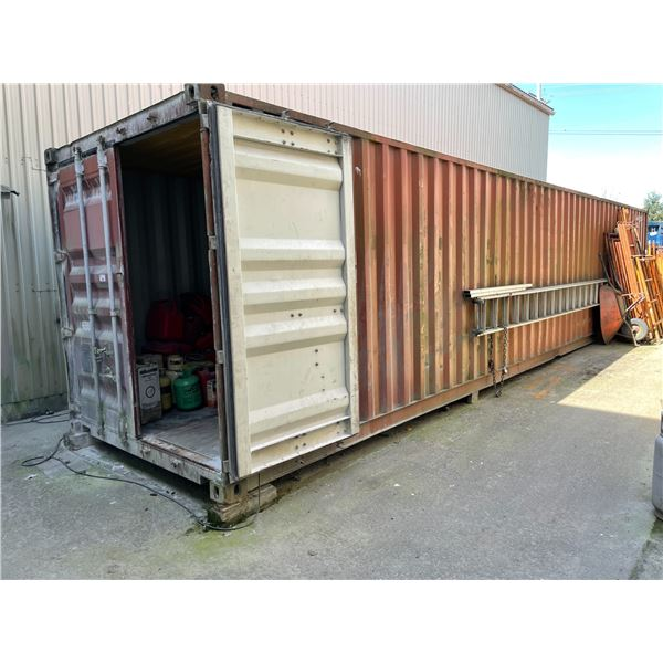 *APR 30 REMOVAL * 40' RED COMMERCIAL 30,480LBS CAPACITY DUAL SWING DOOR FRONT ACCESS SHIPPING CONTAI
