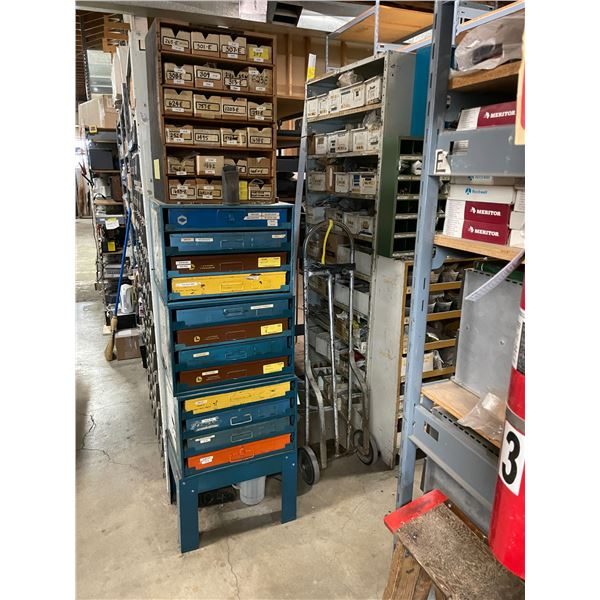 CONTENTS OF MAIN PARTS ROOM INCLUDING APPROXIMATELY $100,000 IN ASSORTED PARTS, HARDWARE, SHELVING,
