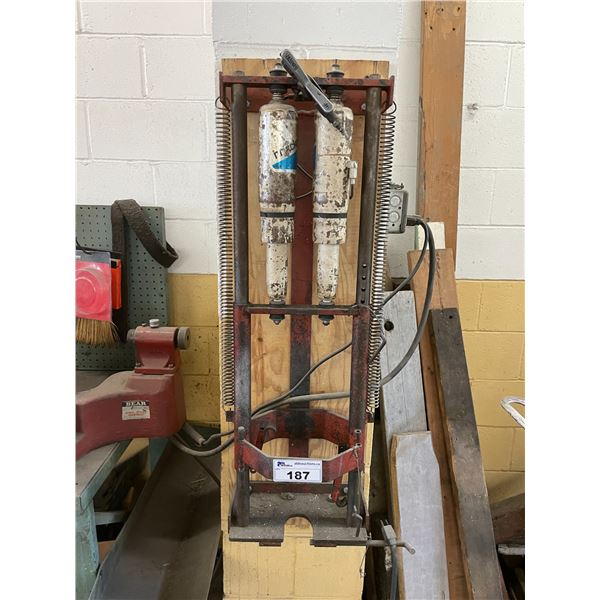 RED WALL MOUNTED INDUSTRIAL STRUT SPRING COMPRESSOR