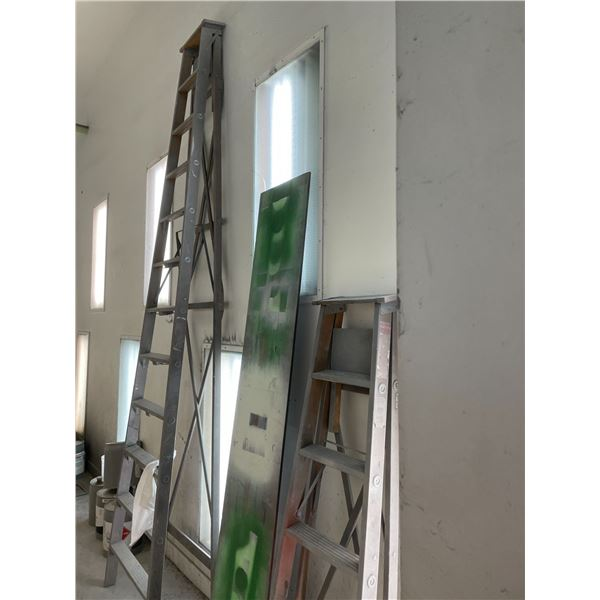ALL CONTENTS OF PAINT BOOTH INCLUDING 12' WOODEN STEP LADDER, 2 - 10' WOODEN STEP LADDERS, 8' WOODEN