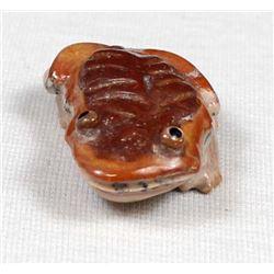 2010 Zuni Travertine Frog Fetish by Ricky Laahty