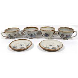 Ken Edwards El Palomar Ceramic Cups and Saucers