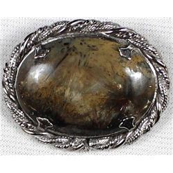 Artisan Crafted Agate Pin