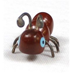 Zuni Pipestone Ant Fetish by Danny Booqua