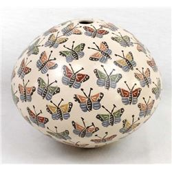 Mata Ortiz Pottery Seed Jar by Celia Lopez
