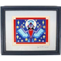 Cherokee Framed ''Native Angel #1'' by Hummingbird