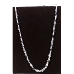 Long Vintage Faceted Crystal Necklace