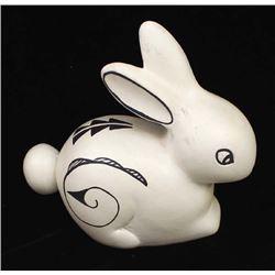 Jemez Hand Painted Ceramic Pottery Rabbit
