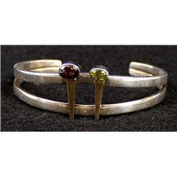 Navajo Sterling 14K Gold Bracelet, Edgar Platero
