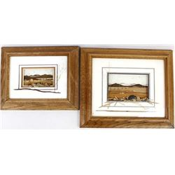 Pair of Original Three Dimensional Framed Nature Art