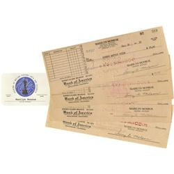 Marilyn Monroe's Academy Membership Card and SAG