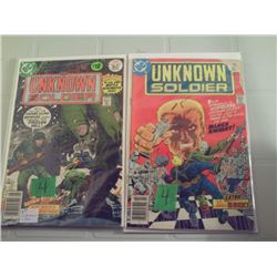 UNKNOWN SOLDIER #205 & #206 20 CENT COMICS