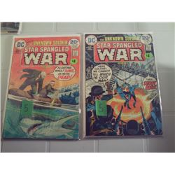 "UNKNOWN SOLDIER ""STAR SPANGLED WAR"" #178 AND 180 20 CENT DC COMICS"
