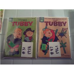 "DELL COMICS ""TUBBY"" 1 10 CENT  1 15 CENT"