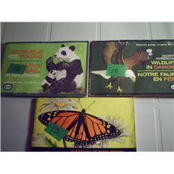 3 BROOKE BOND COLLECTOR CARD ALBUMS
