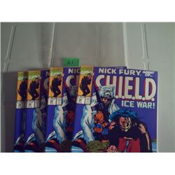 """5 COPIES OF MARVELS #28 """"NICK FURY AGENT OF S.H.I.E.L.D. NEW NEVER READ"""