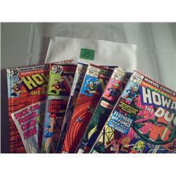"6 MARVEL COMICS ""HOWARD THE DUCK"""