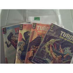 GOLD KEY COMICS  4 TUROK SON OF STONE  12 CENT COMICS