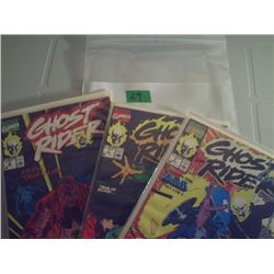 MARVET COMICS 3 GHOST RIDER COMICS